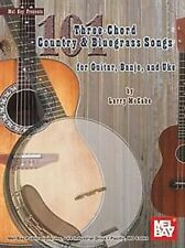 101 Three Chord Country & Bluegrass Songs Larry McCabe Guitar Banjo Uke Book NEW