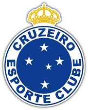 "Cruzeiro Esporte Clube FC Brazil Football Soccer Car Bumper Sticker Decal 4""X5"""