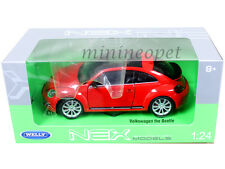 WELLY 24032 NEW VW VOLKSWAGEN THE BEETLE with SUNROOF 1/24 DIECAST RED