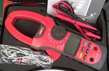 True RMS Clamp-on Multimeter DC AC 1000A 600V 66Mohm 66MHz Temp. -40-1000C UT208