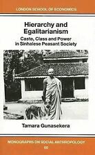 Hierarchy and Egalitarianism: Castle, Class and Power in Sinhalese Peasant Socie