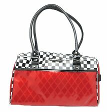 Voodoo Vixen Racing Checker Handbag Pin up Retro 50's Rockabilly Purse BGA3600