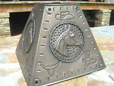 Western Metal Tin Punch Horse Lamp Shade Rustic Small