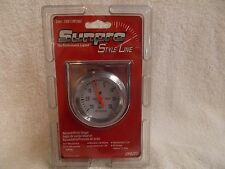"""Sunpro Style Line Vacuum Boost 2"""" Gauge CP8203 White Face Chrome Shell NEW"""