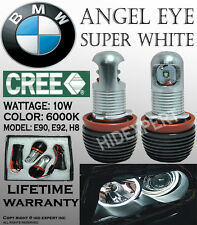 TMZ 2x CREE LED H8 20W 6000K White Angle Eyes Halo Ring Light For BMW E92 F5570