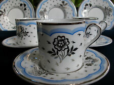 WEDGWOOD SILVER LUSTRE #S254-(c.1935 JUBILEE)-COFFEE CAN/ SAUCER (S)-EXCELLENT!!