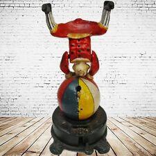Mechanische Spardose Clown Turner Weihnachten Geschenk Vintage Deko Spielzeug