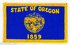 Ecusson Brodé PATCH drapeau OREGON USA AMERICAIN ETATS UNIS FLAG EMBROIDERED