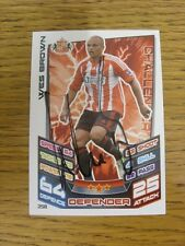 2012/2013 Autograph: Sunderland - Brown, Wes [Hand Signed 'Topps Match Attax' Tr