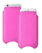 Per Apple iPhone 5c Rosa Napa leather nuevue Dello Schermo Custodia Sleeve sacchetto di pulizia