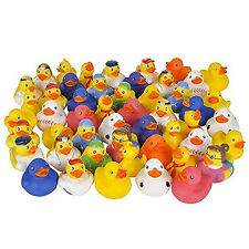 Lot of 50 Assorted Rubber Ducks Toys Baby Shower Bath Party Toddler Play Fun Set