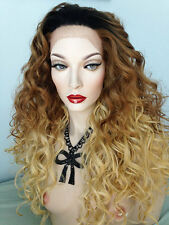 Ombre, Lace front (ear to ear) full wig. Long beautiful big curly hair