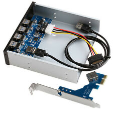 "5.25"" USB 3.0 PCI Express PCI-E Card Adapter Front Panel Expansion Bay 4 Ports"