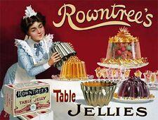 Rowntree´s Jalea,Vintage Ad,Cocina,Café/Restaurante,Metal Pequeña/