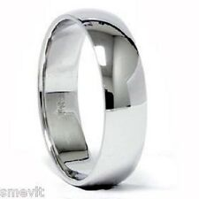 LOWEST PRICE DOMED PALLADIUM 7MM WIDE WEDDING BAND RING