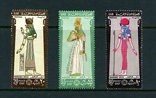 Egypt 1968  #728-30  Pharaonic dress costume  3v.   MNH  I959