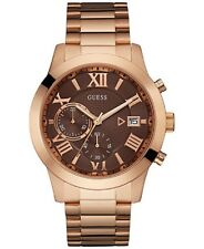 GUESS  Men's Chronograph Rose Gold-Tone Stainless Steel  Watch 44mm U06681