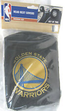 NBA NWT HEAD REST COVERS-SET OF 2 GOLDEN STATE WARRIORS