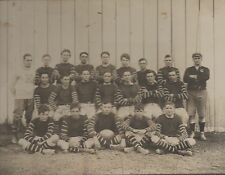 Large 1900 Photo of Football Team in Uniforms with Ball
