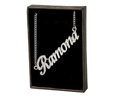 Name Necklace RAMONA - 18ct White Gold Plated - Accessories Anniversary Identity