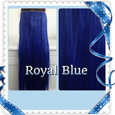 """HAIR EXTENSION. Clip in, 24"""",Straight, Synthetic, ONE PIECE, like REAL HAIR"""