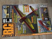 µµ Revue RC Pilot n°18 Plan encarté Miles Sparrowhawk / Voltij T REX  P38 Light.