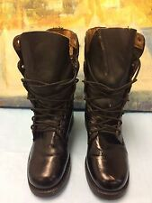 US Military Army Ladies Combat Black 85-16-10 Leather Boots Size 7W