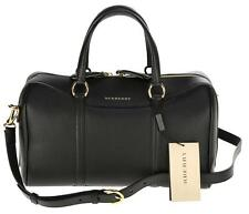 NEW BURBERRY CURRENT BLACK GRAINY LEATHER MEDIUM ALCHESTER BOWLING BAG