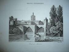 GRAVURE MONT DE MARSAN 1890