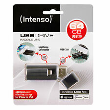 CLE INTENSO USB 3.0 64Go POUR PC+ APPLE IPHONE IPAD IPOD et connecteur lightning