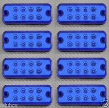 8x 12V Luci Di Posizione LED Laterali Blu luci Pannello Fari Camion Furgone Bus