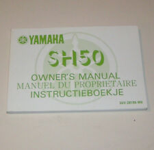 Owner's Manual / Instructieboekje Yamaha SH 50 - Edition 1989 !