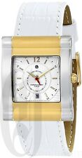 Charles-Hubert Women's Stainless Steel Watch White Calfskin Leather 6841-T