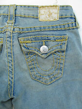 True Religion Billy Super T Yellow Stitch Medium Drifter Jeans Hose Denim 26