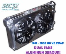 The BEST - 1982 - 2002 Chevy S10 V8 Swap Truck Aluminum Radiator - DUAL FANS!