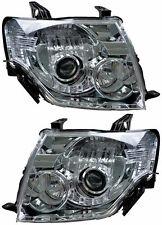 Pair Headlights Mitsubishi Pajero 11/06-13 New NS/NT/NW No motor 07 08 09 10 12