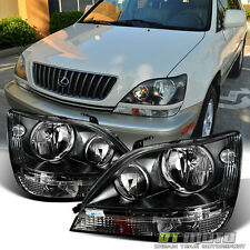 Black For 1999-2003 Lexus Rx300 Stock Style Headlights Headlamp Left+Right 99-03
