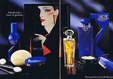 Publicité Advertising 016 1988 Guy Laroche eau de parfum 'Clandestine' (2 pages)