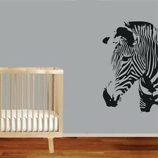 One Large Zebra Wall Decor Removable Home Vinyl Baby Decal Sticker Art DIY Mural