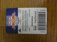 14/09/2006 Ticket: Red Bull Salzburg v Blackburn Rovers [UEFA Cup] . Thanks for