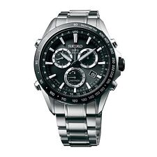 New Seiko Astron Solar GPS Chronograph Stainless Steel Men's Watch SSE011