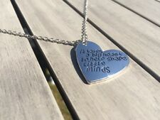 925 Silver Plated 'It Takes A Big Heart..'  Necklace Teachers Gift thank you