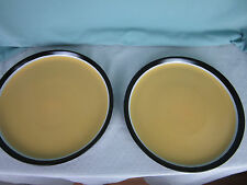 Tabletops Gallery Argentian  Dishes Dinner Plates Set of 2 Stoneware Yellow  New