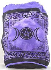 Purple Triple Moon Pentacle Backpack Tote Bag Wiccan Pagan Altar Supply 76TM