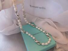 Tiffany & Co. Pearl Infinity Figure 8 Sterling Silver Necklace