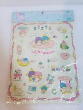 VINTAGE 1976 LITTLE TWIN STARS MASCOT STICKERS SANRIO JAPAN BIRTHDAY