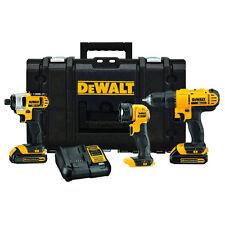 DEWALT 20V MAX 1.3 Ah Li-Ion 3-Tool Combo Kit w/ ToughSystem DCKTS340C2 New