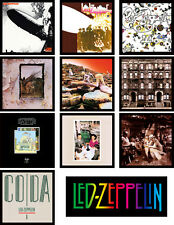 LED ZEPPELIN 10 pack of album cover discography magnets - (plant, page, bonham,