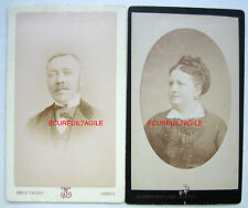 CDV PHOTO FIN XIX PRICAM BOISSONNAS GENEVE SUISSE COUPLE VANTELON k515