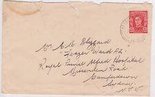 (YAD-23) 1943 AU 2½d KGVI damaged Envelope (J)